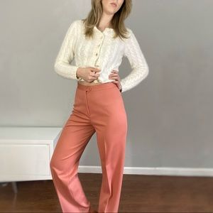 Vintage peach super high waisted trouser pant.
